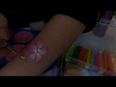 How to Face Paint Flowers | Petal Brush | Face Painting Tutorials | Little Party Heaven