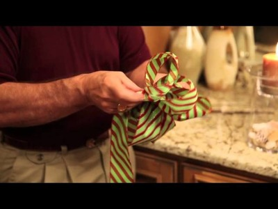 How to make a bow with wired ribbon Evergreen Lake of the Ozarks Missouri