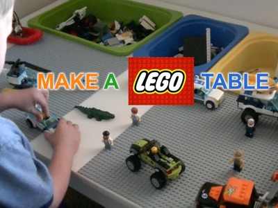 How to make a Lego Table .  DIY  .  JustGiveItaGo .  Awesome