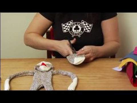 How to Make a Monkey Sock Puppet : How to Cut Tail of Sock Puppets