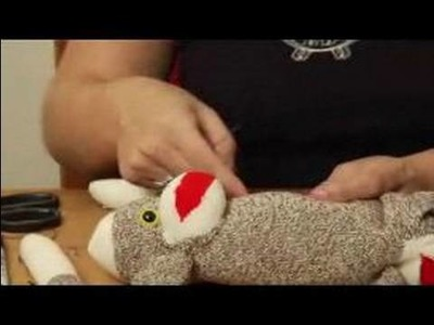 How to Make a Monkey Sock Puppet : How to Attach Arms of Monkey Sock Puppet