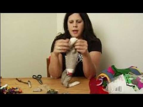 How to Make a Monkey Sock Puppet : How to Make Sock Puppet Eyes