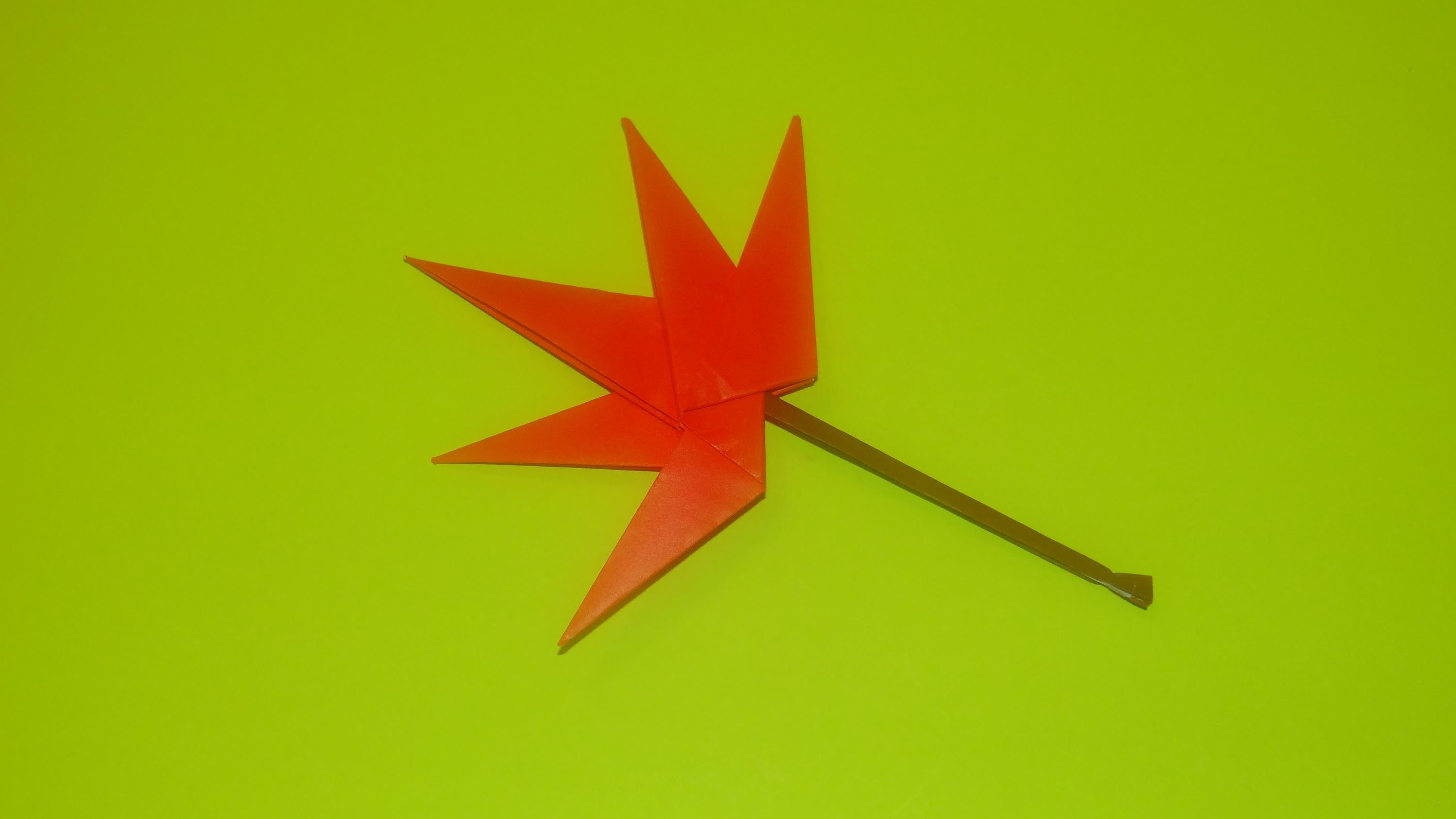 How To Make An Origami Maple Leaf