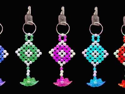 How To Make  Crystal Beads Key Chain
