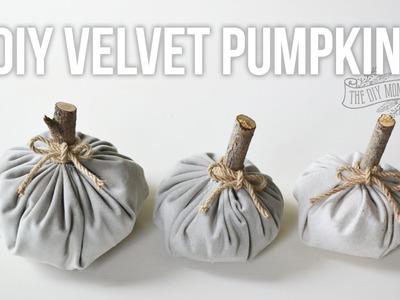How to Make DIY Velvet Fabric Pumpkins