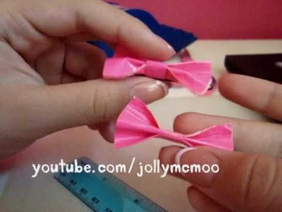 How to make Duct Tape Hair Bows