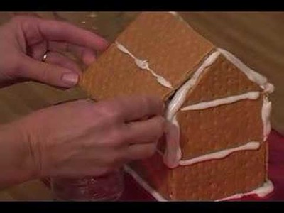 How to Make Graham Cracker Gingerbread Houses : Attaching the Roof of a Graham Cracker Gingerbread House