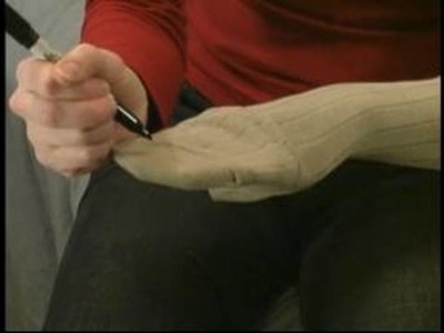 How to Make Sock Puppets : Preparing a Sock Making a Sock Puppet