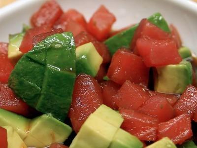 How to Make Tuna Avocado Mix