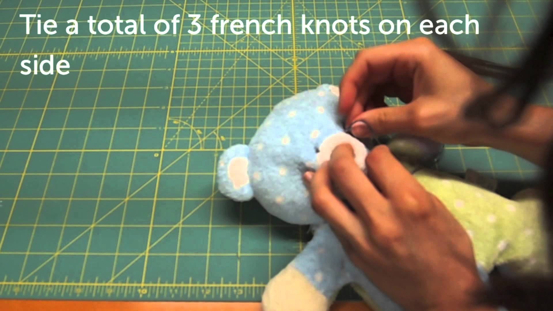 How to Mend your Stuffed Animal - Mending Mr Jiggles Part 2