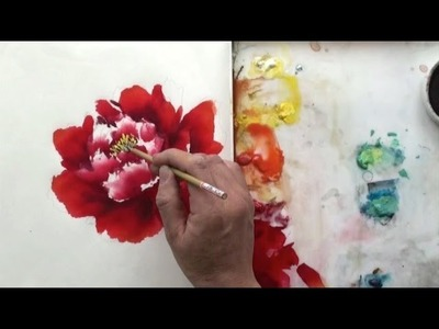 How to Paint Flower Petals in Chinese Watercolor Art
