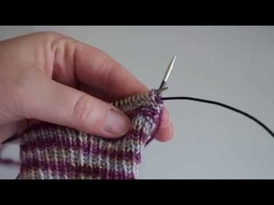 How To: work a reverse purl stitch