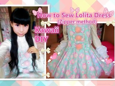 Kawaii Holiday DIY - How to Sew a Cute Easter Bunny Dress(Zipper method) - Lolita fashion