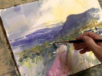 Loose watercolor Demonstration Part 2