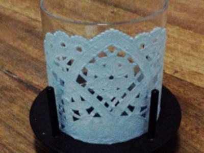 Make a Fancy Doily-Covered Candleholder - DIY Home - Guidecentral
