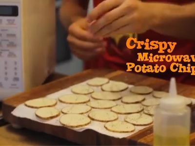 Microwave Potato Chips (Salt and Vinegar) - Surprisingly Incredible