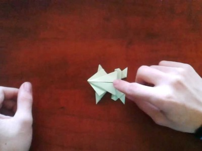 Origami - How to make an origami frog.