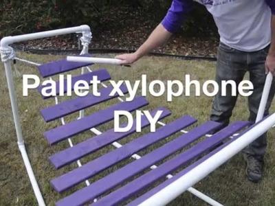 Pallet xylophone DIY