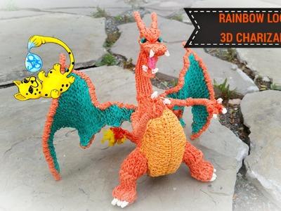 Rainbow Loom 3D Charizard Pokemon (Part 15.15)