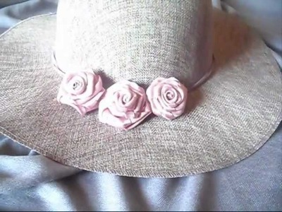 Ribbon roses design - tutorial