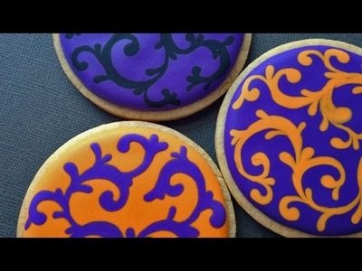 Royal Icing Filigree Cookies for Halloween!