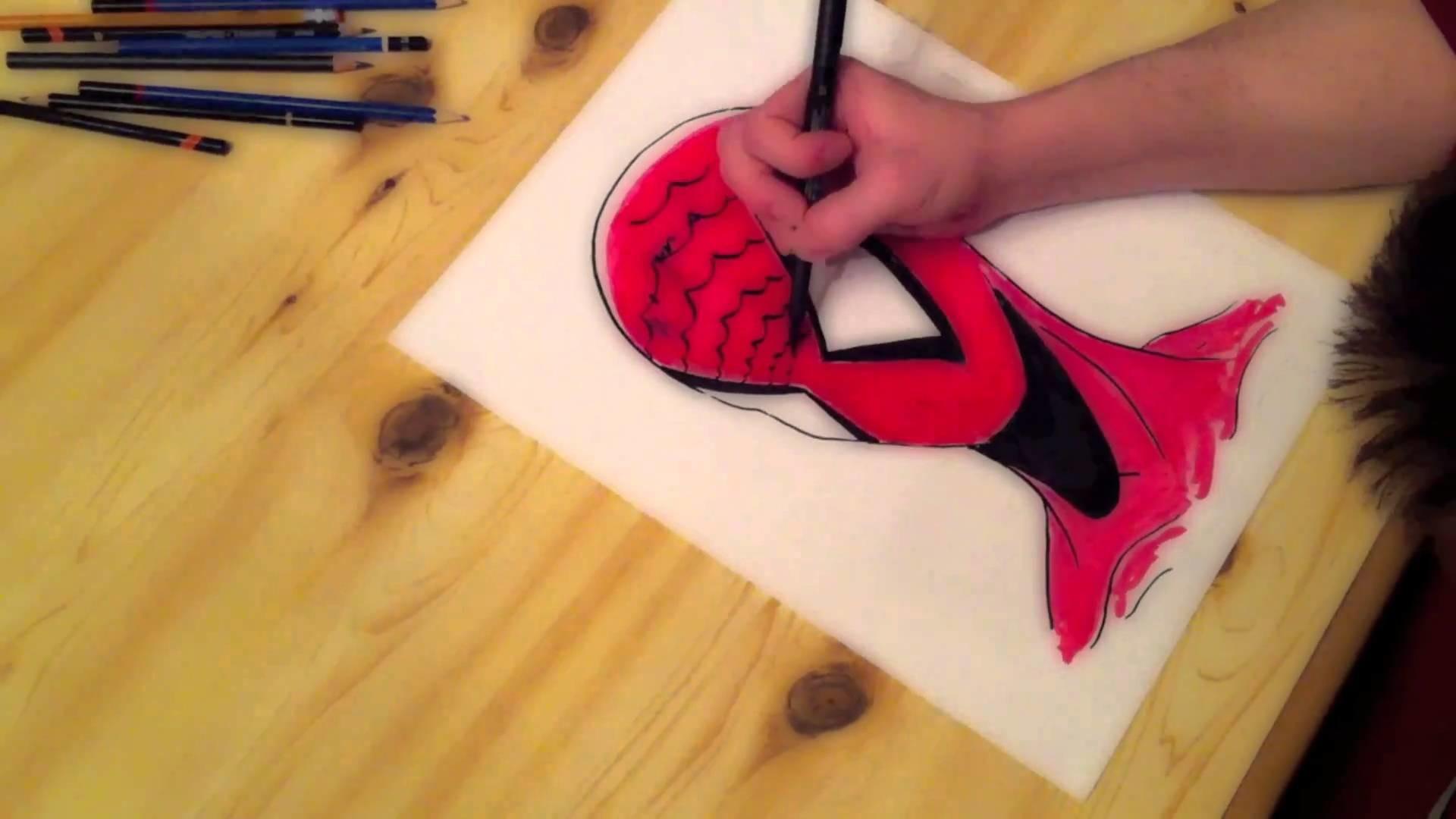 Speed Drawing: Spiderman