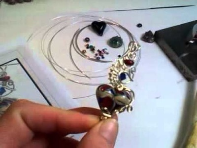 All About my Wire Wrapped Heart Tutorial by Lorraine Dowdle
