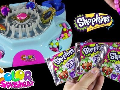 Color Splasherz Design Station! DIY Color Change Jewelry & Beads!Shopkins Trading Cards!