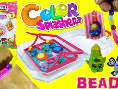 Color Splasherz Purse Playset! Color Changer Beads!DIY Jewelry!Shopkins Foil Tags LPS  Blind Bags