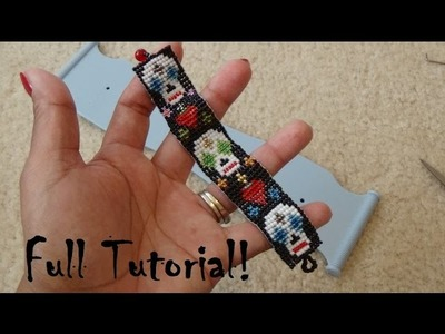 Day of the Dead Beaded Bracelet on Jewel Loom Tutorial! (Beaded Clasp Ending)