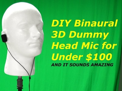 DIY 3D Binaural Microphone Dummy Head for Under $100 - The Show Show - Episode 1