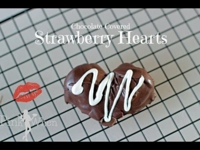 DIY Chocolate Covered Strawberry Hearts