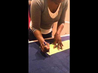 DIY Custom Exposed Shoulder Jumpsuit -  Part 2