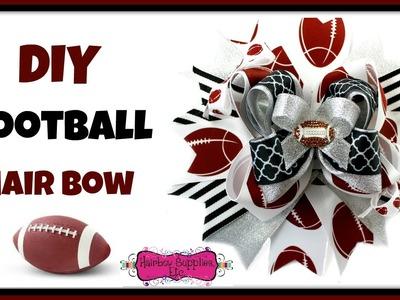 DIY Football Hair Bow - Hairbow Supplies, Etc.
