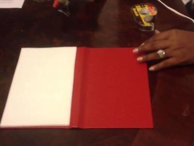 DIY. How To Make a Folio Invitation