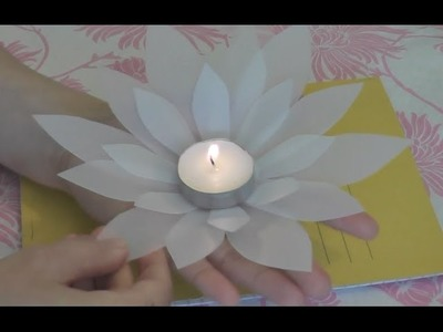 DIY. Make Lotus Flower for a Tea Candle. Recycle a milk Bottle.