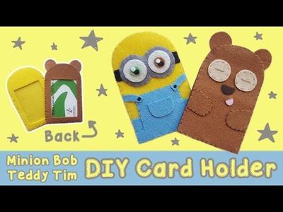 DIY Minion Bob + Teddy Tim Card Holder | Back to School