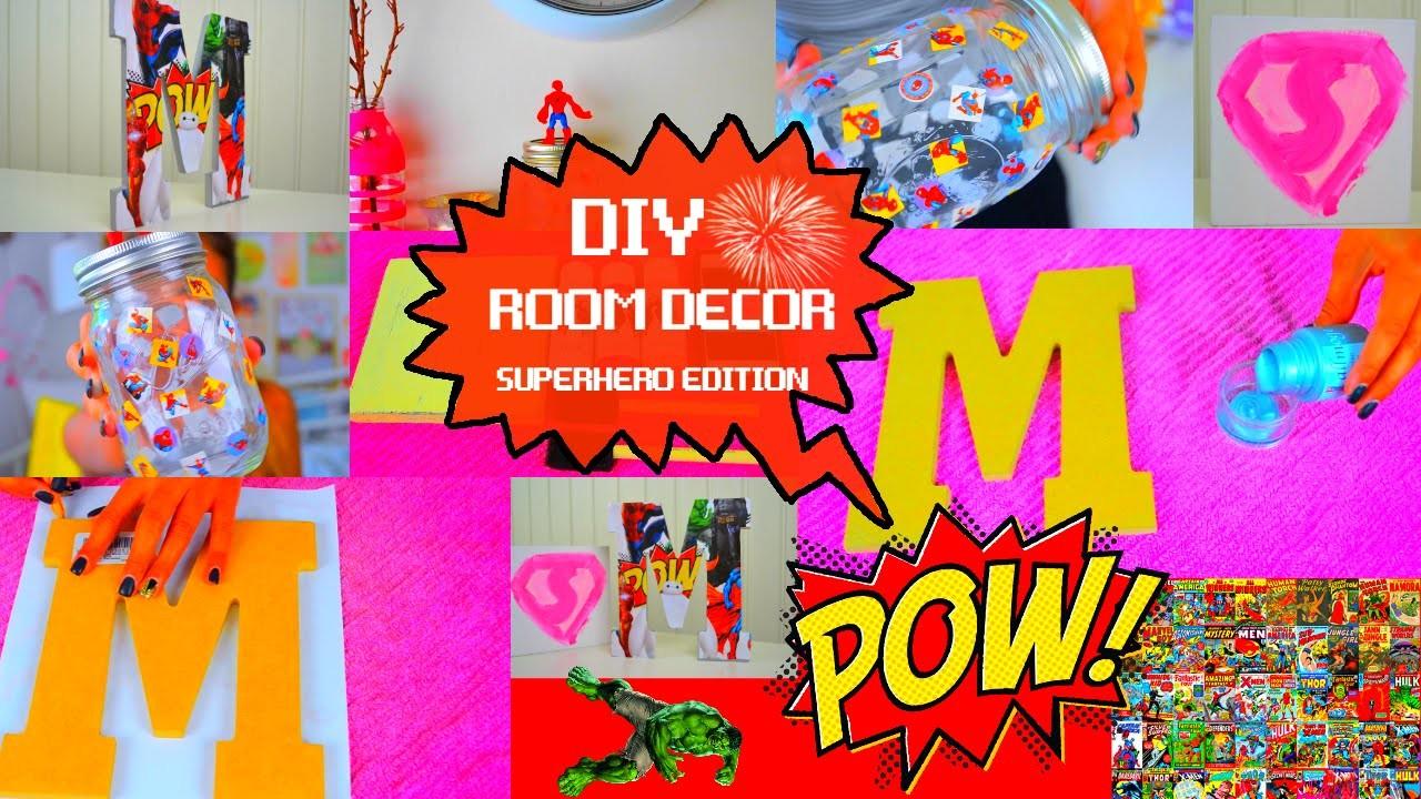 DIY Room Decorations   Superhero Edition