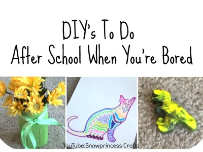 DIY's To Do After School When You're Bored!