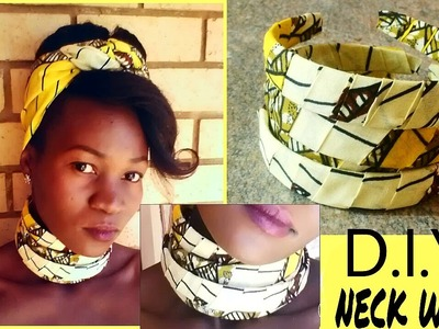 DIY statement african print (Ankara)neckwear.necklace.accessory