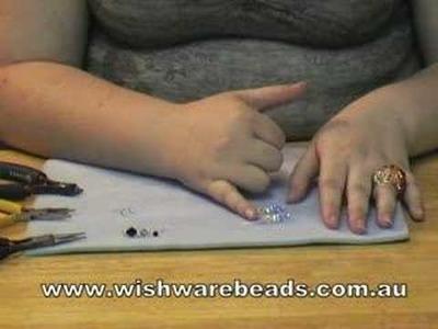 Drop Earrings Swarovski @Wishware Online Beading Classes