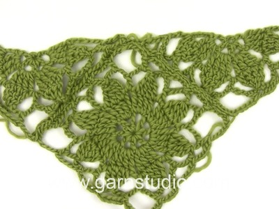 DROPS Technique Tutorial: How  to sew flower square together in 125-3