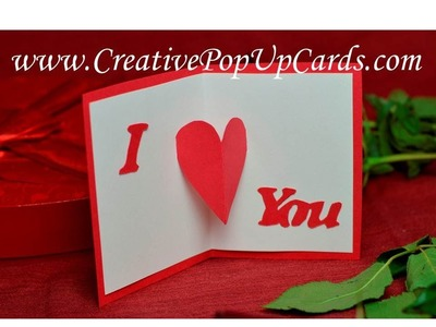 Easy and Quick Valentine's Day Pop Up Card: Center Heart