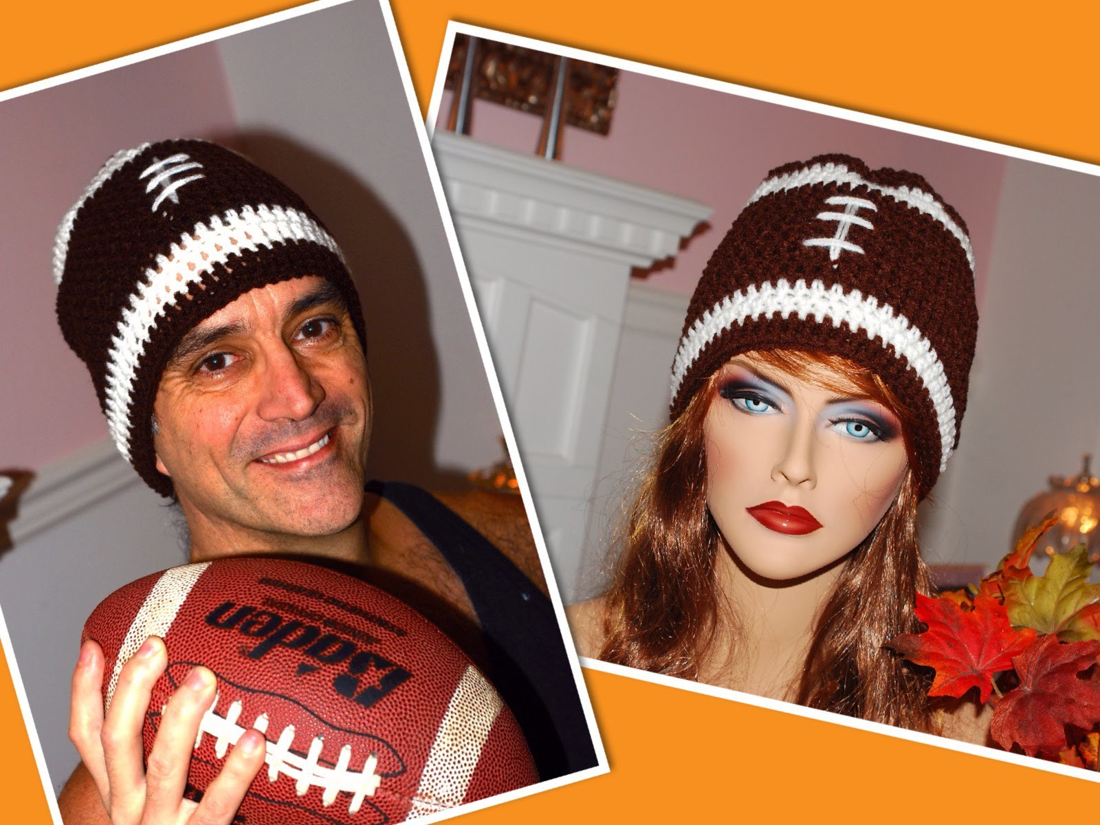 Glama's His & Hers Football Beanie