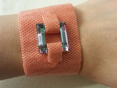 Handmade Jewelry: Peyote Bracelet Part 2 of 2