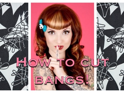 How to Cut Vintage Bangs & Betty Bangs Using clippers by CHERRY DOLLFACE