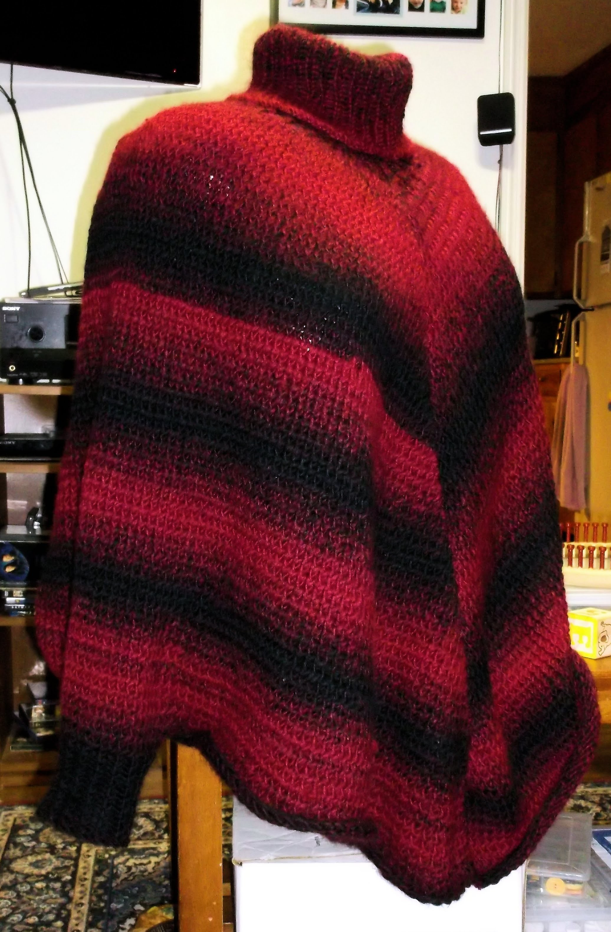 How to Loom Knit a Sweater Poncho