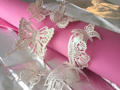 How to Make 3D Butterflies with Cake Lace