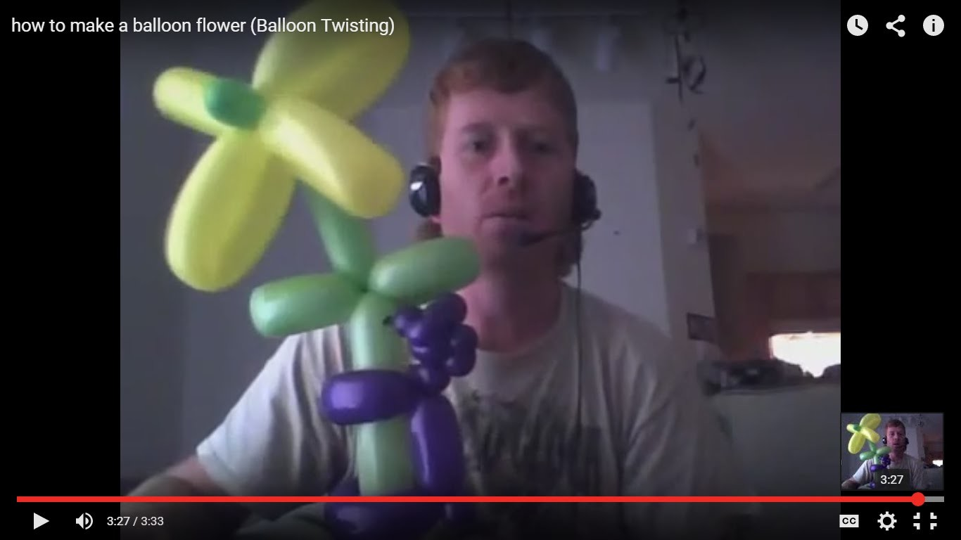 How to make a balloon flower (Balloon Twisting)