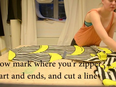 How to make a circleskirt with woven fabric